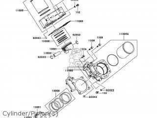 kawasaki kvf650 a1 prairie650 2002 usa parts lists and schematics 2003 Kawasaki Prairie 650 Diagram cylinder piston s