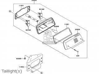 kawasaki kvf650 a1 prairie650 2002 usa parts lists and schematics Kawasaki Mule 600 Wiring Diagram taillight s