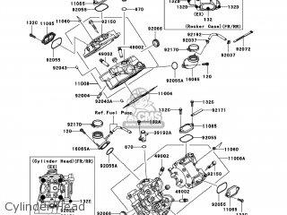 kawasaki kvf650 d6f brute force 650 4x4 2006 usa parts lists and Kawasaki Prairie 650 Winch Mount cylinder head