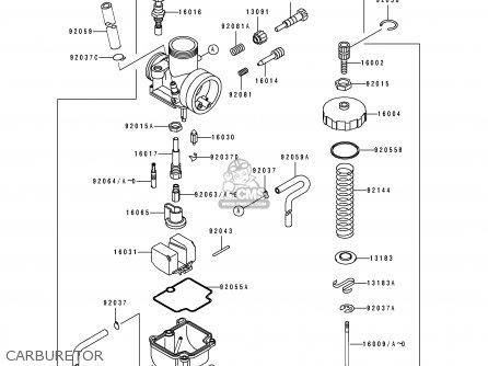 Kawasaki    Kx100b7 1997 Europe As parts list partsmanual