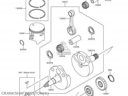 Kawasaki Kx100 C2 1999 Europe As Parts Lists And Schematics