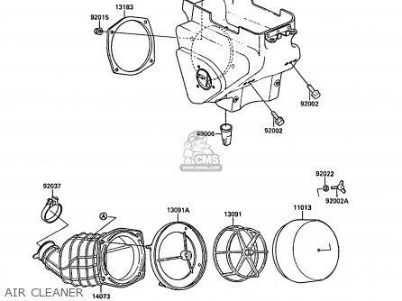 Kawasaki Kx125 F1 1988 Europe Uk Al Parts Lists And Schematics
