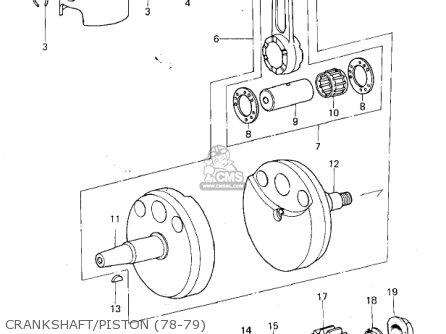Kawasaki KX250-A5 1979 parts lists and schematics on
