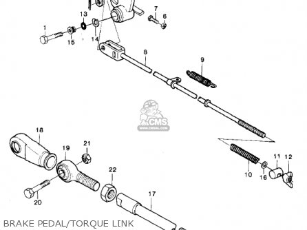 Kawasaki Kx250-a7 Kx250 1981 Usa Canada Export Brake Pedal torque Link