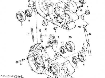 Kawasaki Kx250-a7 Kx250 1981 Usa Canada Export Crankcase