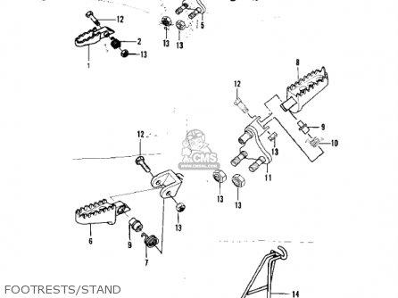 Kawasaki Kx250-a7 Kx250 1981 Usa Canada Export Footrests stand