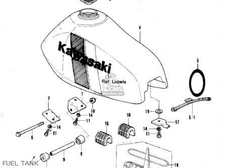 Kawasaki Kx250-a7 Kx250 1981 Usa Canada Export Fuel Tank