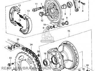 Kawasaki Kx250-a7 Kx250 1981 Usa Canada Export Rear Hub brake chain