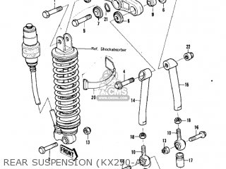 Kawasaki Kx250-a7 Kx250 1981 Usa Canada Export Rear Suspension kx250-a7