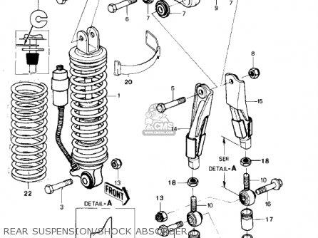 Kawasaki Kx250-a7 Kx250 1981 Usa Canada Export Rear Suspension shock Absorber