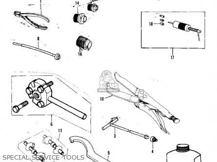 Kawasaki Kx250-a7 Kx250 1981 Usa Canada Export Special Service Tools