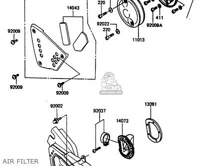 Kawasaki Kx250 D1 1985 United Kindom Al Parts Lists And Schematics