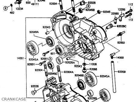 Kawasaki Kx250 D2 1986 Europe Uk Al Parts Lists And Schematics