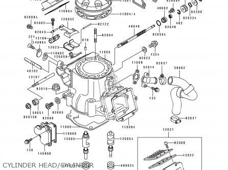 CYLINDER HEAD/CYLINDER - KX250-J2 1993 KX250 EUROPE AS