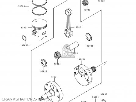Kawasaki Kx250 K1 1994 Europe As Parts Lists And Schematics
