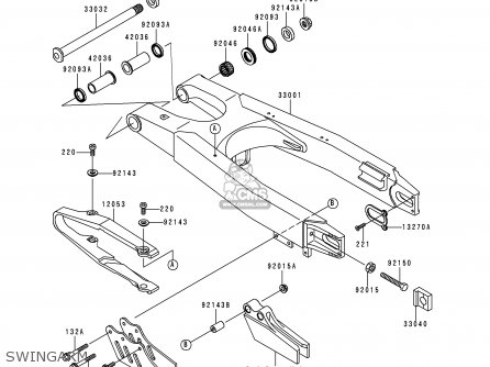 Kawasaki Kx250 K4 1997 Europe Fr As Parts Lists And Schematics