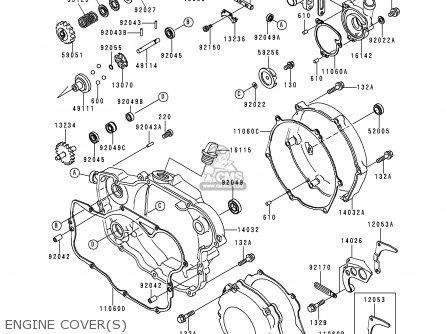 Kawasaki Kx250-l1 1999 Europe Fr As Engine Covers