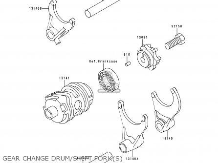Kawasaki Kx250-l1 1999 Europe Fr As Gear Change Drum shift Forks
