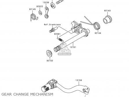 Kawasaki Kx250-l1 1999 Europe Fr As Gear Change Mechanism