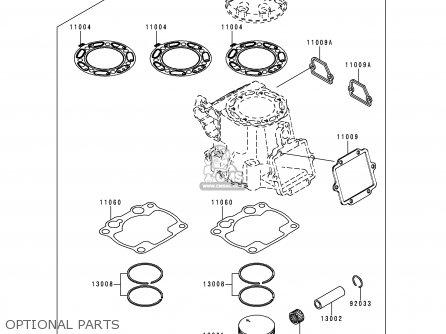Kawasaki Kx250-l1 1999 Europe Fr As Optional Parts