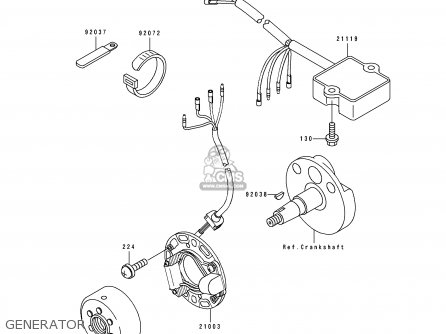 Kawasaki Kx80 T1 1991 United Kingdom Parts Lists And Schematics