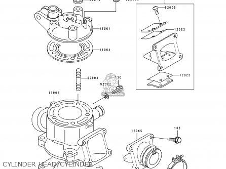 CYLINDER HEAD/CYLINDER - KX80-V3 1993 EUROPE