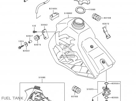 Kawasaki Kx80 V5 1995 Europe Parts Lists And Schematics
