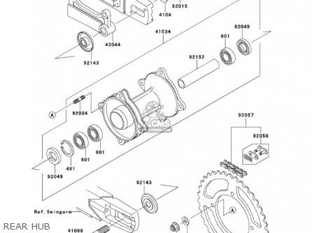 Kawasaki    Kx85a1 Kx85 2001 Usa Canada parts list