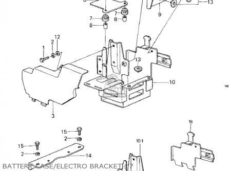 Kawasaki Kz1000-c4 Police1000 1981 Battery Case electro Bracket 7