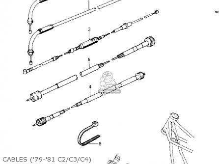 Kawasaki Kz1000-c4 Police1000 1981 Cables 79-81 C2 c3 c4