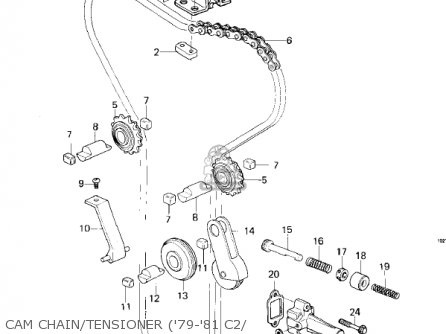 Kawasaki Kz1000-c4 Police1000 1981 Cam Chain tensioner 79-81 C2