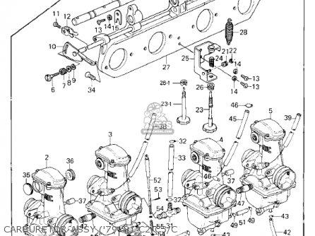Kawasaki Kz1000-c4 Police1000 1981 Carburetor Assy 79-81 C2 c3 c