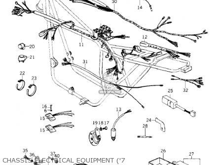 Kawasaki Kz1000-c4 Police1000 1981 Chassis Electrical Equipment 7