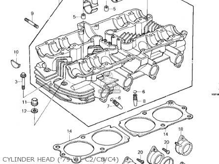 Kawasaki Kz1000-c4 Police1000 1981 Cylinder Head 79-81 C2 c3 c4