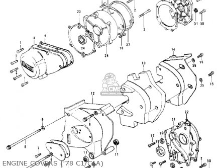 Kawasaki Kz1000-c4 Police1000 1981 Engine Covers 78 C1 c1a