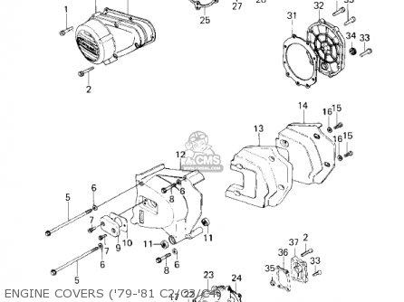 Kawasaki Kz1000-c4 Police1000 1981 Engine Covers 79-81 C2 c3 c4