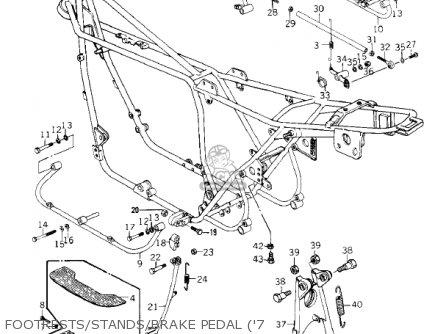 Kawasaki Kz1000-c4 Police1000 1981 Footrests stands brake Pedal 7