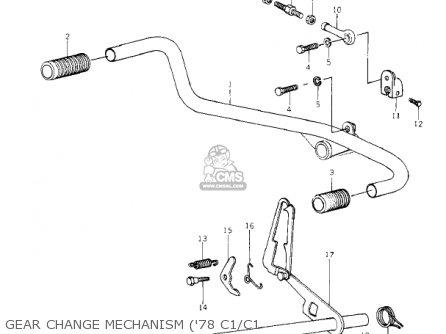 Kawasaki Kz1000-c4 Police1000 1981 Gear Change Mechanism 78 C1 c1