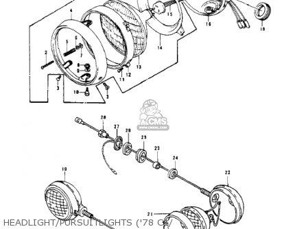 Kawasaki Kz1000-c4 Police1000 1981 Headlight pursuitlights 78 C1