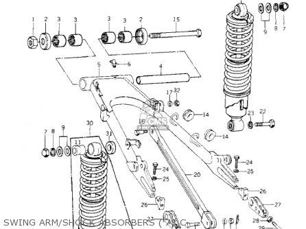 Kawasaki Kz1000-c4 Police1000 1981 Swing Arm shock Absorbers 78 C