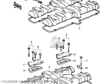 Kawasaki KZ1000A1 1977 CANADA parts lists and schematics