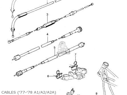 Kawasaki Kz1000a2 Kz1000 1978 Canada Cables 77-78 A1 a2 a2a