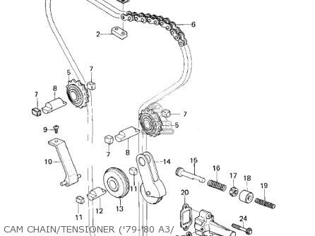 Kawasaki Kz1000a2 Kz1000 1978 Canada Cam Chain tensioner 79-80 A3