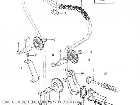 Kawasaki Kz1000a2 Kz1000 1978 Canada Cam Chain tensioner77-78 A1 a