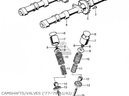 Kawasaki Kz1000a2 Kz1000 1978 Canada Camshafts valves 77-78 A1 a2