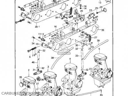 Kawasaki Kz1000a2 Kz1000 1978 Canada Carburetor Assy 77-78 A1 a2 a