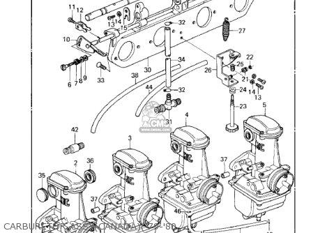 Kawasaki Kz1000a2 Kz1000 1978 Canada Carburetor Assycanada79-80