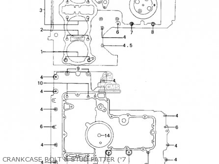 Kawasaki Kz1000a2 Kz1000 1978 Canada Crankcase Bolt  Stud Patter 7