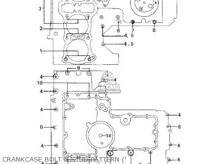Kawasaki Kz1000a2 Kz1000 1978 Canada Crankcase Bolt  Stud Pattern