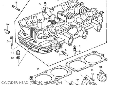 Kawasaki KZ1000A2 KZ1000 1978 CANADA parts lists and schematics